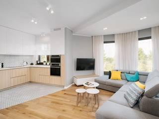 Kuchnia połączona z salonem: styl , w kategorii Kuchnia zaprojektowany przez Monika Staniec Interior Design