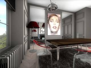 Salon - Salle à manger très contemporain: Salle à manger de style de style Moderne par réHome