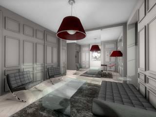 Salon murs gris, style ancien/contemporain: Salon de style de style Moderne par réHome
