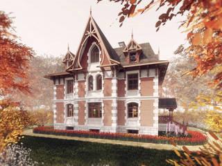Дом в викторианском стиле 01: Дома в . Автор – Архитектурное строительное бюро КАРЛОСН и К.