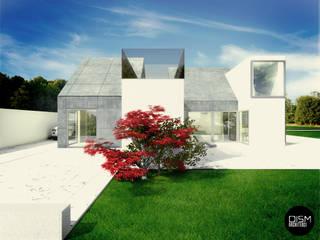 Nowoczesny dom ze stromym dachem: styl , w kategorii Domy zaprojektowany przez DISM Architekci