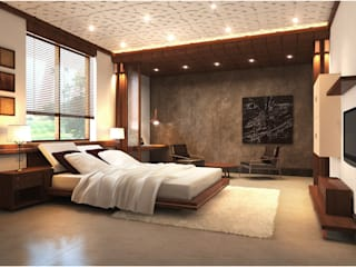 Master Bedroom Eclectic style bedroom by Chaukor Studio Eclectic