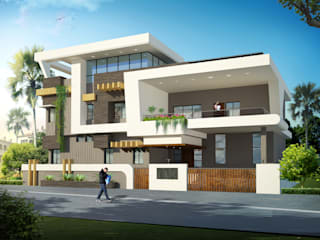 independent villa:  Houses by anss crafters