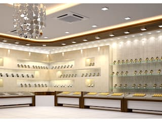 jewelry shop interior Modern houses by anss crafters Modern