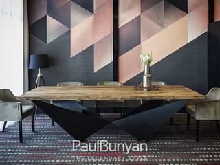 Stół dębowy ze starego drewna i metalu - model TM: styl , w kategorii  zaprojektowany przez PaulBunyan