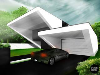 Dom ze skosem: styl nowoczesne, w kategorii Domy zaprojektowany przez DISM Architekci