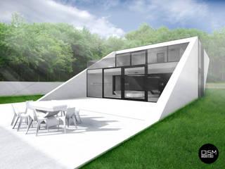 Dom ze skosem: styl , w kategorii Domy zaprojektowany przez DISM Architekci