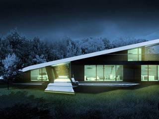 Czarny dom: styl nowoczesne, w kategorii Domy zaprojektowany przez DISM Architekci