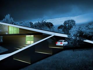 Czarny Dom: styl , w kategorii Domy zaprojektowany przez DISM Architekci
