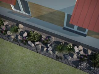Ogród klasyczny z nutą nowoczesności od Pracownia projektowa KOS