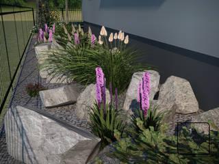 Ogród klasyczny z nutą nowoczesności: styl , w kategorii  zaprojektowany przez Pracownia projektowa KOS