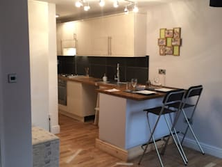 Conversion And Upgrading One Bedroom flat to Two Bedroom Flat:  Kitchen by Persepolis Architecture Ltd