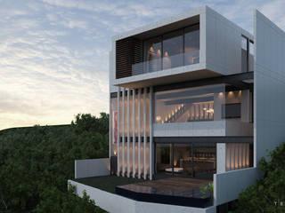 CASA BALCONES: Casas de estilo  por Tectónico,