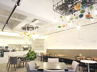 BRUNCH CAFE 'bonbeloo5' 스칸디나비아 다이닝 룸 by 디자인팩토리 북유럽