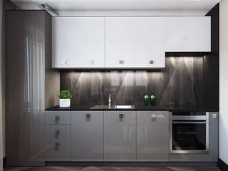 Дизайн-проект квартиры в ЖК Мегаполис-НН в стиле Арт Деко: Кухни в . Автор – Дизайн студия ЭльДиз