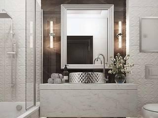 Дизайн-проект квартиры в ЖК Мегаполис-НН в стиле Арт Деко: Ванные комнаты в . Автор – Дизайн студия ЭльДиз