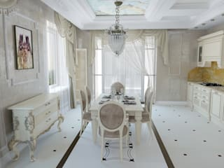 Дизайн-проект загородного дома 450 кв.м. в Володарском районе  : Кухни в . Автор – Дизайн студия ЭльДиз