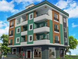 Tropical style houses by EMG Mimarlik Muhendislik Proje Çanakkale 0 286 222 01 77 Tropical