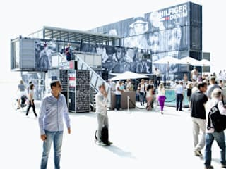 Hilfiger denim fashion fair booth Industrial style event venues by TWOTIMESTWENTYFEET Industrial