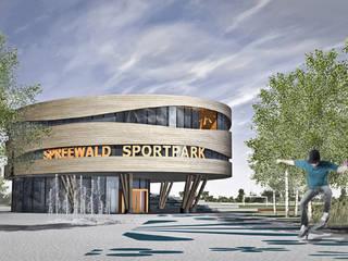 Wettbewerb Spreewald Sportpark Lübbenau von Rentzsch Architekten