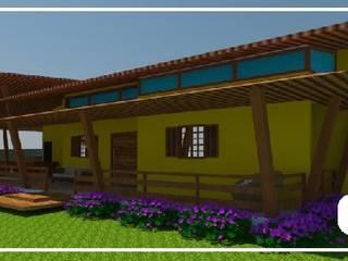 Casa de Campo:   por Andressa Leite Arquitetura e Iluminação