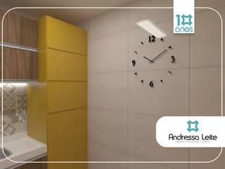 Área de serviço camuflada: Cozinhas  por Andressa Leite Arquitetura e Iluminação