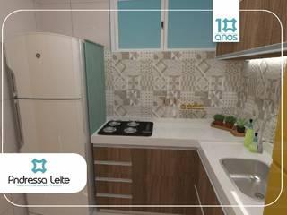 Cozinha: Cozinhas  por Andressa Leite Arquitetura e Iluminação