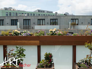 Über den Dächern der Stadt:  Terrasse von ARTfischer Die Möbelmanufaktur.