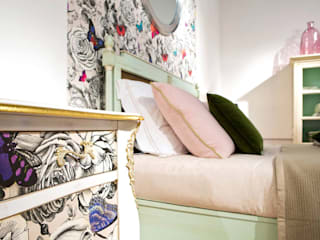 Grange México غرفة نومأسرة نوم خشب نقي Pink