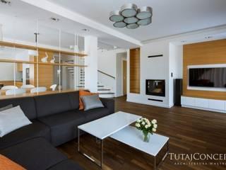Realizacja - USTANÓW Moderne Wohnzimmer von TutajConcept Modern