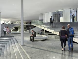 Projekty Modern Corridor, Hallway and Staircase by biuro40 Modern