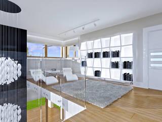 Dom z widokiem MG Projekt Projekty Domów Balkon, Beranda & Teras Modern