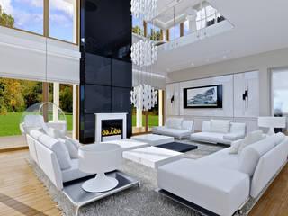 Livings de estilo moderno por MG Projekt Projekty Domów