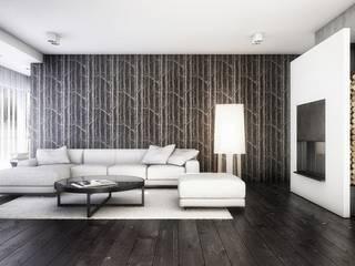 Salas modernas de Cutout Architects Moderno