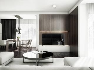 Salas multimedia de estilo moderno de Cutout Architects Moderno