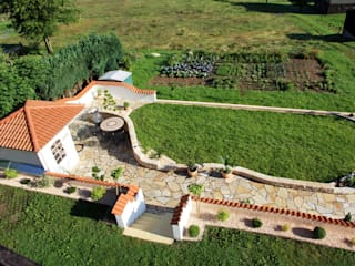 Gartenanlage von oben:  Garten von Rimini Baustoffe GmbH