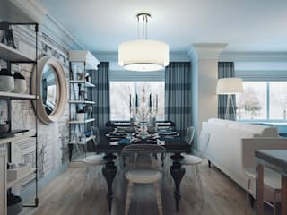 eclectic Dining room by KAPRANDESIGN