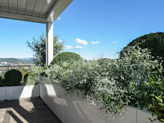 Tecnica Verde Taman Modern Kayu Lapis White