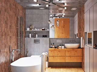 Industrial style bathroom by Студия дизайна Interior Design IDEAS Industrial