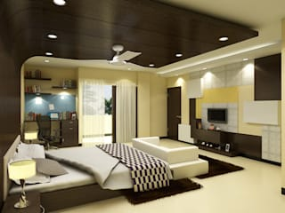 Greater Kailash Residence Modern style bedroom by The Brick Studio Modern