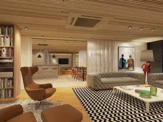 AM4 APARTAMENT REVIWED Salas de estar modernas por STUDIO LUIZ VENEZIANO Moderno