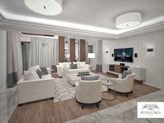 Modern Living Room by PUHALSKA DESIGN Modern