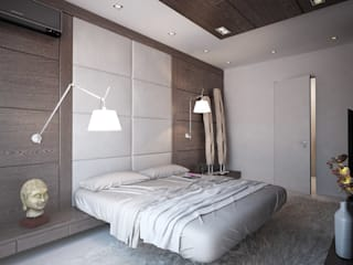 """Апартаменты """"Умный дом"""": Спальни в . Автор – Grafit Architects, Минимализм"""