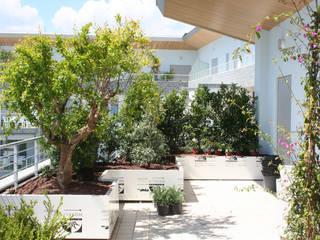 Febo Garden landscape designers Varandas, alpendres e terraços mediterrâneo Alumínio/Zinco Branco