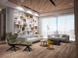 Квартира на Кутузовском: Гостиная в . Автор – Grafit Architects, Минимализм