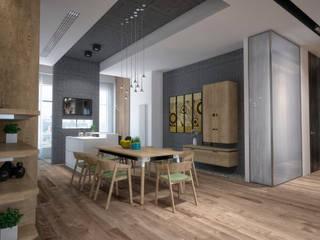 Квартира на Кутузовском: Столовые комнаты в . Автор – Grafit Architects, Минимализм