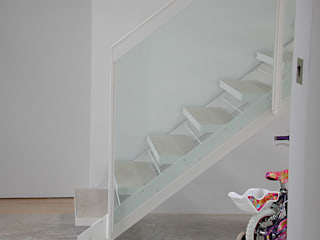 Listed Barn conversion Modern corridor, hallway & stairs by O2i Design Consultants Modern