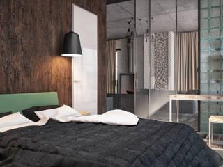 "Апартаменты ""Industrial"": Спальни в . Автор – Grafit Architects, Лофт"