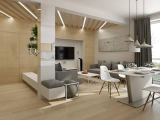 Skandinavische Wohnzimmer von TutajConcept Skandinavisch