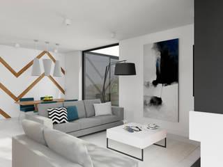 SALON: styl , w kategorii Salon zaprojektowany przez TutajConcept